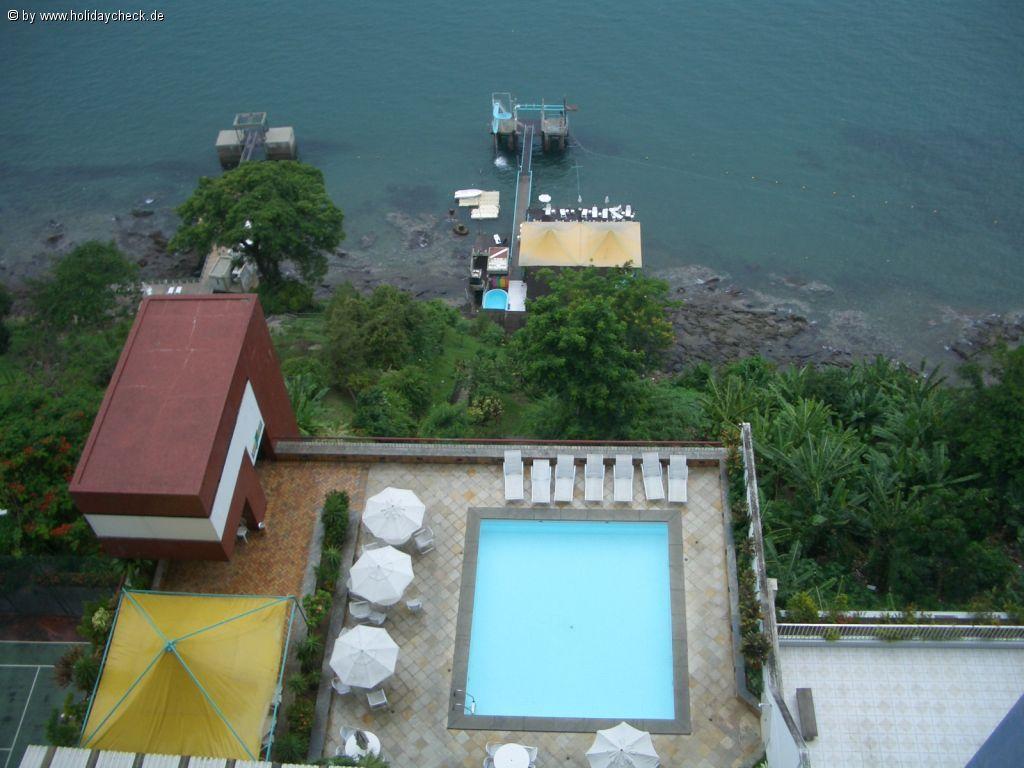 Hotel Sol Victoria Marina, Salvador de Bahia (Brasil) - vista de la piscina y playaprivada