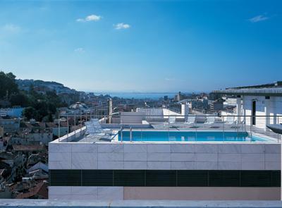 Hotel NH Liberdade, Lisboa (Portugal) - piscinaexterior