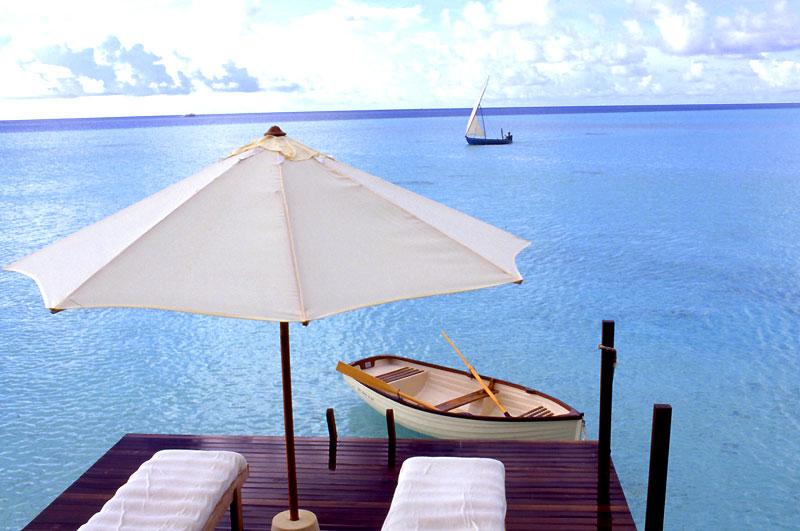Hotel Soneva Gili, Maldivas - Solarium de lavilla