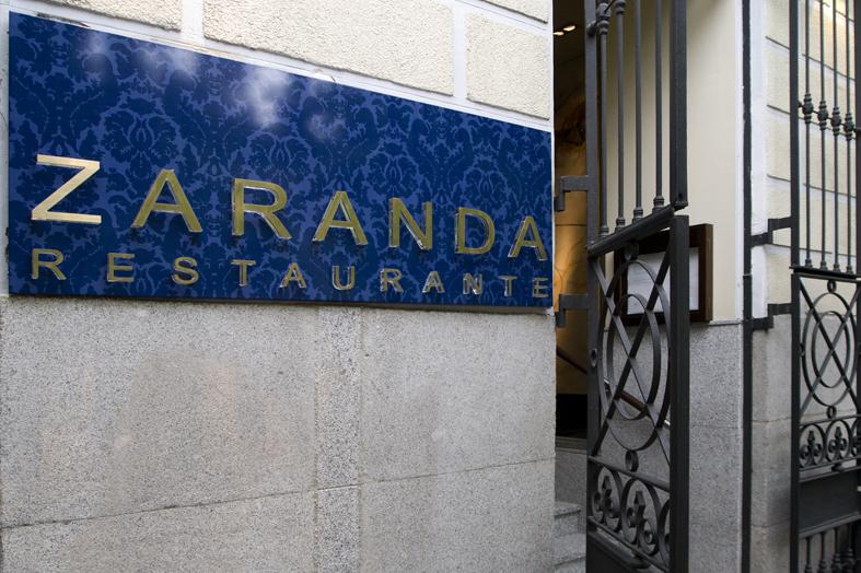 Restaurante Zaranda - Madrid -Entrada