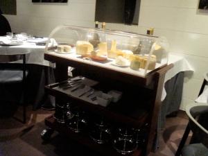 Carrito de quesos artesanales