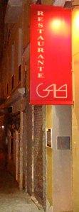 Restaurante Gala - Entrada al local
