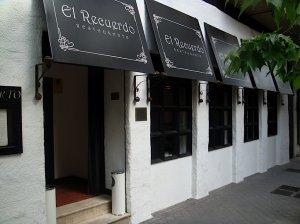 Restaurante El Recuerdo Madrid Entrada