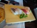 Tabla de sushi del menú del d�a