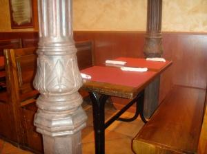 Detalle de mesas