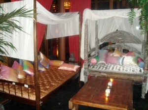 Camas Balinesas de la terraza Ylang