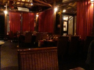 Mesas del restaurante Kudetá - Parte superior