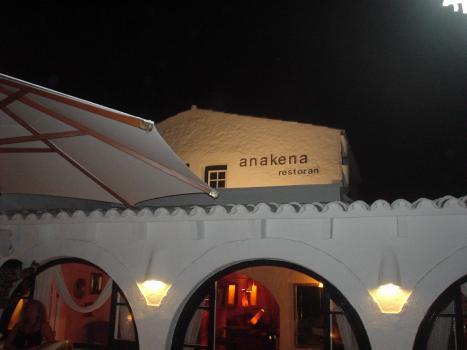 Vista del exterior del Anakena Restoran en Sant Lluis (Menorca)