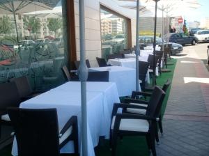 Terraza del Restaurante Di Blu . Las Tablas Madrid
