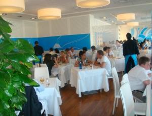 Vista general del comedor en el restaurante Di Blu . Las Tablas Madrid