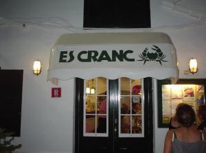 Entrada del Restaurante Es Cranc