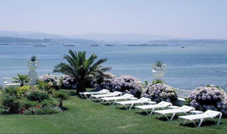 Vistas al mar desde el Hotel Louxo, en la Isla de la Toja
