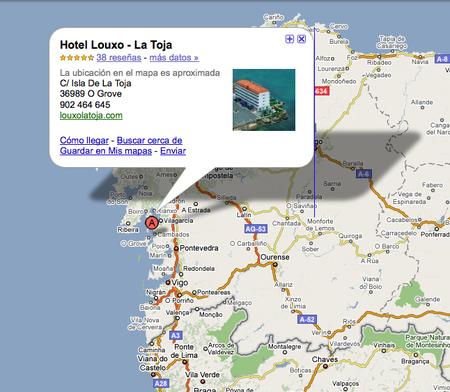 Localiza el Hotel Louxo en Google Maps