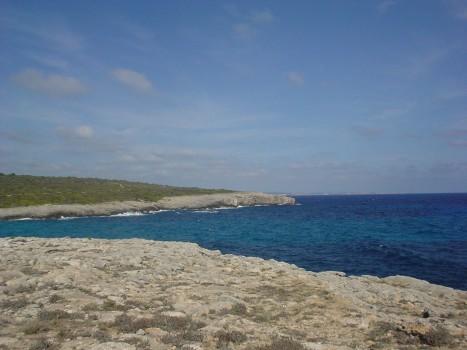 Vistas del mar en el sur de la isla
