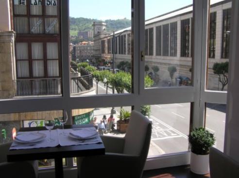 Restaurante Asia di Roma- Bilbao - Vista desde el Comedor Superior