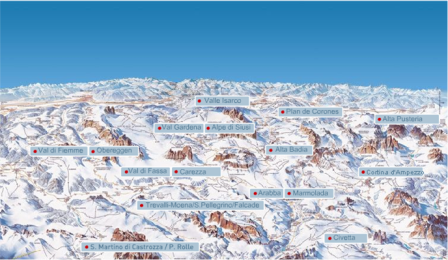Mapa de Dolomiti Superski