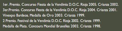 Vino Ostatu - Tinto joven 2008 - Premios